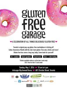 Gluten free Garage Poster May 2016